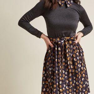 NWT Long Sleeve Dress w/ Collar & Sash ModCloth
